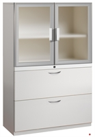 "Picture of 2 Drawer Steel, Trace Combo Lateral File with Aluminum Doors, 30""W"
