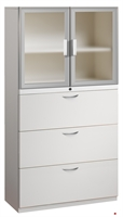"""Picture of 3 Drawer Steel, Trace Combo Lateral File with Aluminum Doors, 30""""W"""