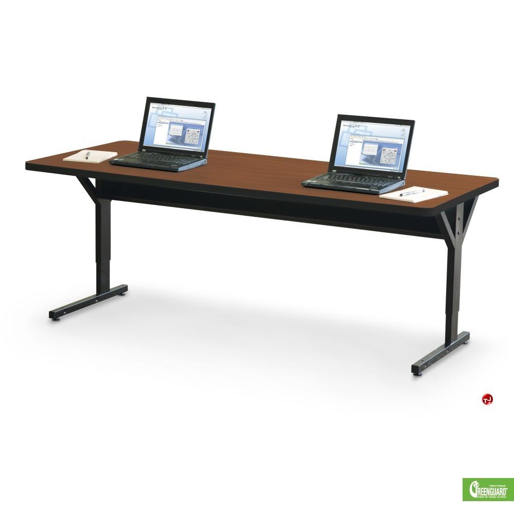 the office leader 30 x 72 height adjustable training table. Black Bedroom Furniture Sets. Home Design Ideas
