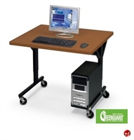 "Picture of 30"" x 36"" Height Adjustable Mobile Training Table, CPU Holder"