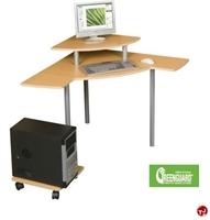 Picture of Corner Curve Computer Desk Workstation