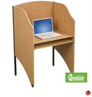 "Picture of 24"" x 32"" Telemarketing Laminate Carrel Cubicle Workstation"