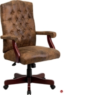 Picture of Brato High Back Traditional Brown Tufted Chair