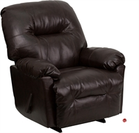 Picture of Brato Brown Leather Rocking Recliner