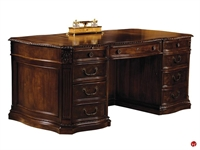 "Picture of Hekman 7-9160, 36"" x 72"" Carved Traditional Veneer Executive Desk Workstation"