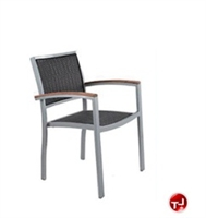Picture of Benchmark Baja 1110, Outdoor Dining Stackable Woven Arm Chair