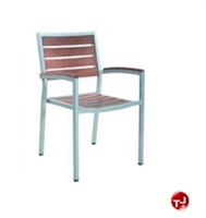 Picture of Benchmark Baja 1112, Outdoor Dining Stackable Teak Arm Chair