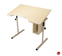 "Picture of POP 24"" x 40"" Height Adjustable Computer Desk Workstation, ADA"