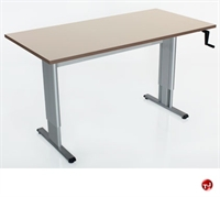 """Picture of POP 24"""" x 36"""" Height Adjustable Computer Training Table, ADA"""