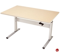 "Picture of POP 24"" x 36"" Height Adjustable Computer Training Table, ADA"