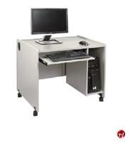 """Picture of QUARTZ 24"""" x 35"""" Mobile Computer Training Desk Workstation"""