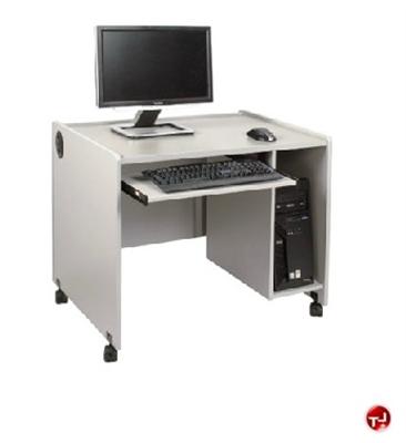 """Picture of QUARTZ 24"""" x 60"""" Mobile Computer Training Desk Workstation"""