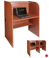 "Picture of QUARTZ 24"" x 42"" Telemarketing Study Carrel Cubicle Workstation"