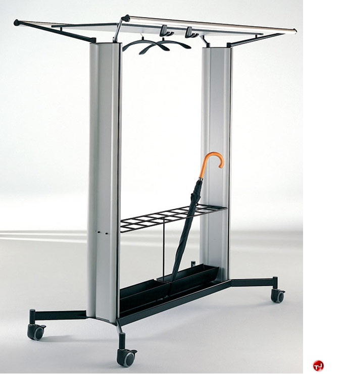 Magnuson Office Rak Rolling Coat Rack Or 2a Cst4 Regarding Hanger
