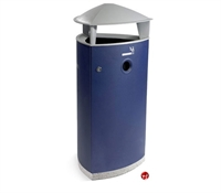 Picture of Magnuson Atrria 26 Gallon Indoor Outdoor Aluminum Waste Basket Receptacle