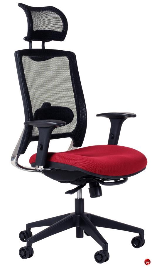 the office leader milo high back ergonomic mesh office