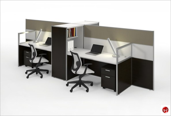 Office Desk Cubicle Modren Picture Of Milo Cer 4 Person Workstation