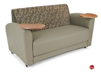 Picture of OFM 822, Reception Lounge Lobby 2 Seat Loveseat Sofa with Tablets