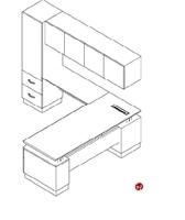 Picture of Nevers Americana Veneer L Shape Office Desk Workstation