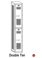 Picture of Perk All Welded Double Tier Locker,12 x 15 x 72
