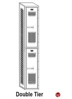 Picture of Perk All Welded Double Tier Locker,15 x 12 x 60