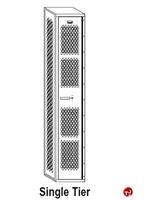 Picture of Perk All Welded Single Tier Locker, 12 x 15 x 60