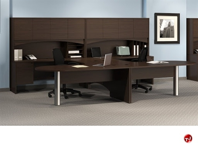 Picture of 2 Person D Top U Shape Office Desk Workstation,Oveheard Storage