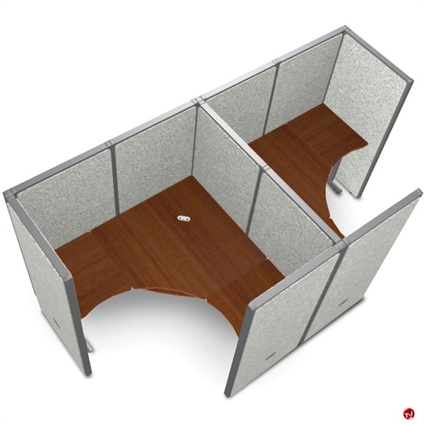 Charmant Picture Of 2 Person L Shape Office Desk Cubicle Cluster Workstation