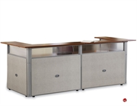 Picture of 2 Person U Shape Reception Office Desk Workstaiton