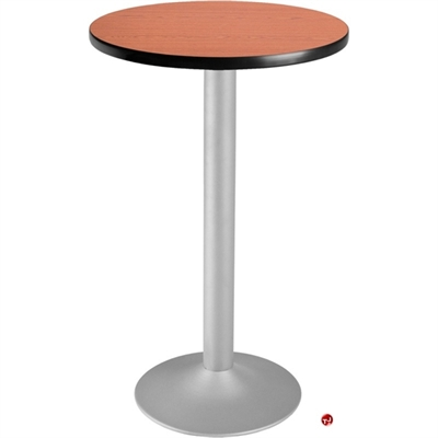 """Picture of 24"""" Round Cafeteria Dining Bar Height Flip Top Table"""