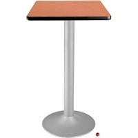 "Picture of 24"" Square Cafeteria Dining Bar Height Flip Top Table"
