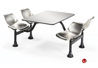 "Picture of 30"" x 48"" Cafeteria Connecting Table with Swivel Chairs"