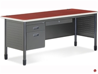 "Picture of 30"" x 66"" Steel Office Desk Workstation"