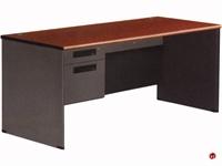 """Picture of 30"""" x 66"""" Steel Office Desk Workstation, Filing Pedestals"""