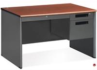 """Picture of 48"""" Steel Office Desk Workstation, Filing Pedestal"""