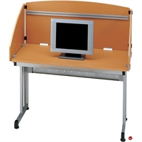 "Picture of 48"" Study Carrel Computer Workstation"
