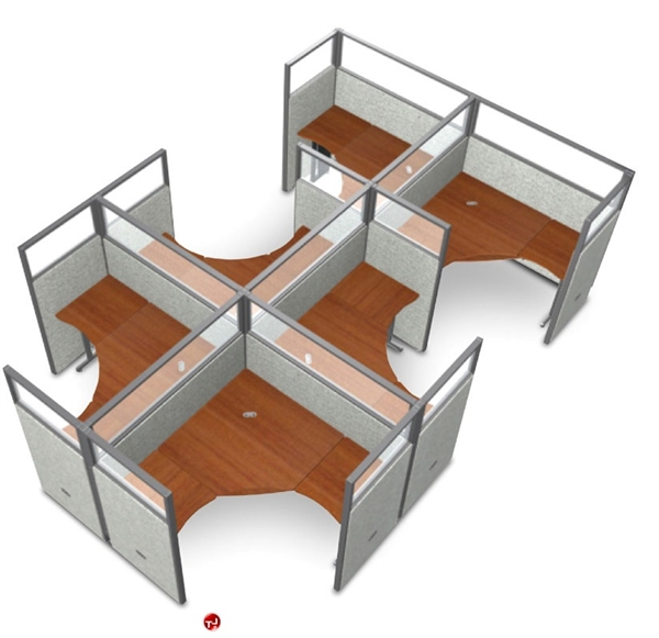the office leader 6 person l shape office desk cubicle