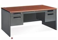 """Picture of 60"""" Steel Office Desk Workstation, Filing Pedestals"""