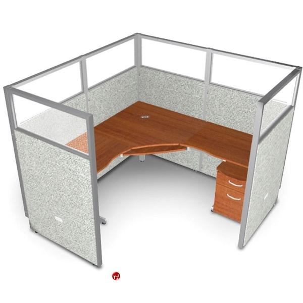The Office Leader 72 Quot L Shape Office Desk Cubicle Workstation