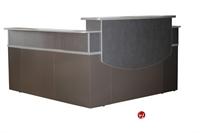 """Picture of 72"""" L Shape Steel Reception Desk Workstation"""