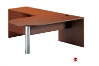 """Picture of 72"""" Laminate D Top Bullet L Shape Office Desk"""