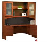 """Picture of 72"""" Laminate Kneespace Credenza with Overhead Storage"""