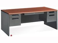 """Picture of 72"""" Steel Office Desk Workstation, Filing Pedestals"""