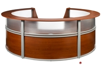 Picture of Contemporary Circular Laminate Reception Office Desk Workstation