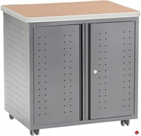 Picture of Mobile 2 Shelf Storage Cabinet with Doors