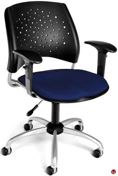 the office leader office task plastic swivel arm chair