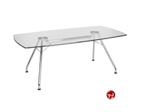 Picture of Rectangular Glass Conference Table