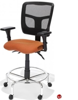 Picture of RFM 19133 Ergonomic Office Task Stool Chair, Footring