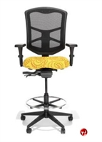 Picture of RFM 19333 Ergonomic Office Task Mesh Stool Chair, Footring