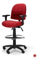 Picture of RFM 4813 Ergonomic Office Task Stool Chair, Footring